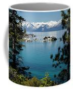 Rocks In A Lake With Mountain Range Coffee Mug