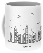 Syracuse, New York Cityscape Travel Poster Coffee Mug