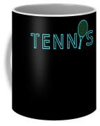 Tennis Player Ball Racket Serve Game I Love Tennis Coffee Mug