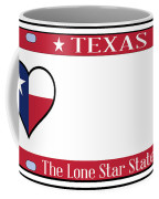 Texas State License Plate Coffee Mug