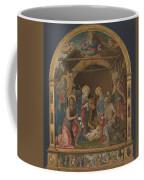 The Nativity With Saints Altarpiece  Coffee Mug
