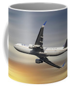 United Airlines Boeing 767-322 Coffee Mug