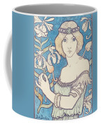 Vintage Poster - Woman With Flower Coffee Mug