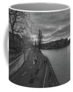 Walking Along The Seine At Sunset Coffee Mug