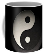 Yin Yang Symbol Leather Texture Coffee Mug by Brian Carson