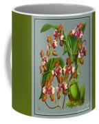Orchid Vintage Print On Tinted Paperboard Coffee Mug