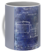 1870 Beer Preserving Patent Blue Coffee Mug