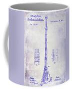 1871 Fire Hose Elevator Patent Blueprint  Coffee Mug