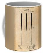 1879 Billiard Cue Antique Paper Patent Print Coffee Mug