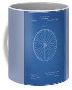 1885 Bicycle Wheel Patent Coffee Mug