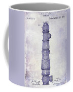 1889 Fire Hydrant Patent Blueprint Coffee Mug