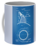 1889 Hopkins Fireman's Hat Blueprint Patent Print Coffee Mug