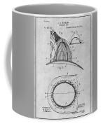1889 Hopkins Fireman's Hat Gray Patent Print Coffee Mug