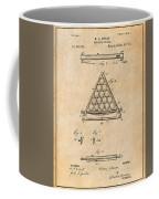 1891 Billiard Ball Rack Patent Print Antique Paper Coffee Mug
