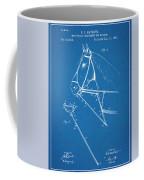 1891 Horse Harness Attachment Patent Print Blueprint Coffee Mug