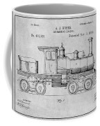 1891 Huber Locomotive Engine Gray Patent Print Coffee Mug