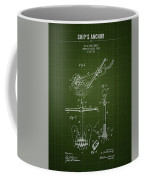 1892 Ships Anchor - Dark Green Blueprint Coffee Mug