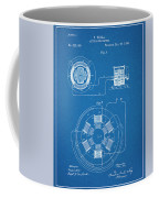 1896 Tesla Alternating Motor Blueprint Patent Print Coffee Mug