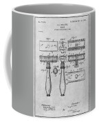 1901 Gillette Safety Razor Gray Patent Print Coffee Mug