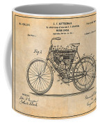 1901 Stratton Motorcycle Antique Paper Patent Print Coffee Mug
