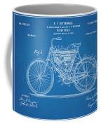 1901 Stratton Motorcycle Blueprint Patent Print Coffee Mug