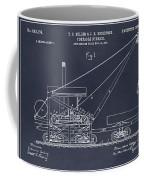 1903 Railroad Derrick Blackboard Patent Print Coffee Mug