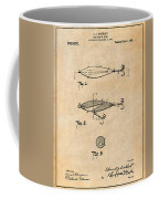 1909 Lockhart Antique Fishing Lure Antique Paper Patent Print Coffee Mug