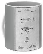 1909 Lockhart Antique Fishing Lure Gray Patent Print Coffee Mug