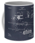 1913 Remington Model 17 Pump Shotgun Blackboard Patent Print Coffee Mug