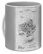 1913 Side Car Attachment For Motorcycle Gray Patent Print Coffee Mug