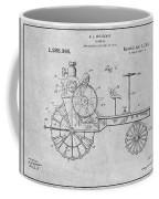 1919 Antique Tractor Gray Patent Print Coffee Mug