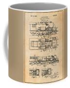 1925 Turbine Driven Locomotive Antique Paper Patent Print  Coffee Mug