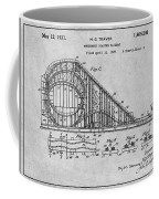 1927 Roller Coaster Gray Patent Print Coffee Mug