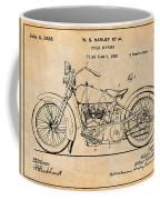 1928 Harley Davidson Motorcycle Antique Paper Patent Print Coffee Mug