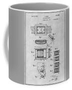 1930 Leon Hatot Self Winding Watch Patent Print Gray Coffee Mug
