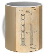 1932 San Francisco Golden Gate Bridge Antique Paper Patent Print Coffee Mug