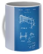 1933 Soccer Goal Blueprint Patent Print Coffee Mug