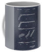1934 Hockey Stick Patent Print Blackboard Coffee Mug