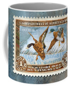 1934 Hunting Stamp Collage Coffee Mug by Clint Hansen