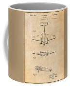 1934 Lockheed Model 10 Electra Airliner Patent Antique Paper Coffee Mug
