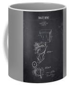 1936 Toilet Bowl - Dark Charcoal Grunge Coffee Mug