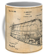 1937 Jabelmann Locomotive Antique Paper Patent Print Coffee Mug