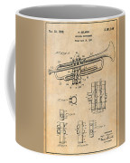 1937 Trumpet Antique Paper Patent Print Coffee Mug