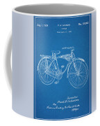 1939 Schwinn Bicycle Blueprint Patent Print Coffee Mug