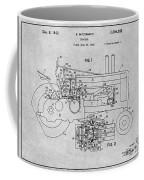 1942 John Deere Tractor Gray Patent Print Coffee Mug