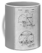 1944 Basketball Goal Gray Patent Print Coffee Mug