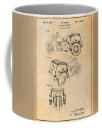 1952 3 Three Wheel Motorcycle Antique Paper Patent Print Coffee Mug