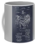 1954 Chrysler 426 Hemi V8 Engine Blackboard Patent Print Coffee Mug