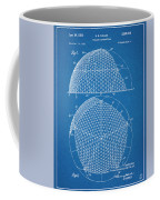 1954 Geodesic Dome Blueprint Patent Print Coffee Mug