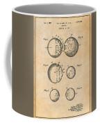 1954 Wiffle Ball Patent Print Antique Paper Coffee Mug